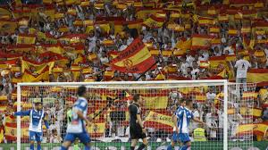 Spainish Flag Real Madrid Santiago Bernabéu Referendum Response Is Spanish
