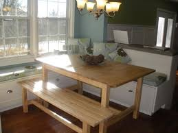 Kitchen Table With Booth Seating by Best 25 Bench Kitchen Tables Ideas On Pinterest Bench For