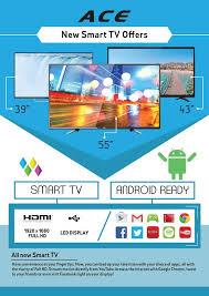 Led Tv Box Design Ace 43 U2033 Slim Full Hd Led Smart Tv Black Led 909