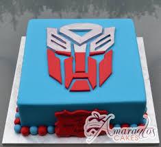 transformer cakes transformers logo nc367 amarantos cakes