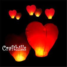 wishing paper 40 pcs color heart shape sky kongming flying wishing paper