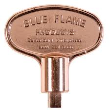 blue flame 3 in universal gas valve key in polished brass bf ky
