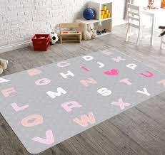 alphabet nursery nursery rug kids rug pink nursery rug