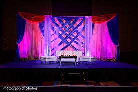 wedding venue backdrop reception in baltimore md indian wedding by photographick studios