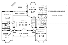 2 floor plans with garage country style house plan 3 beds 2 00 baths 1380 sq ft plan 456 2