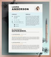 Resume Resume Stylish Resume Template Cover Letter Creative Resume Design