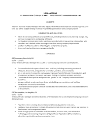 Resume Samples Business Management by Technical Project Manager Resume 21 Senior Example Resume Sample