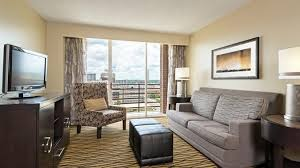 the living room east hton austin hotel suites at the doubletree in austin tx
