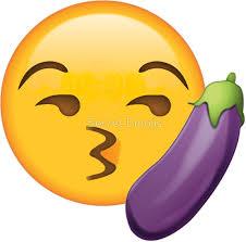 Emoji Meme - kissy eggplant secret emoji funny internet meme stickers by