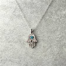 turquoise crystal pendant necklace images Turquoise crystal evil eye hand hamsa pendant necklace jpg