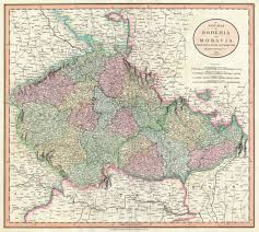 bohemia map a map of bohemia and moravia by cary 1801 map europe