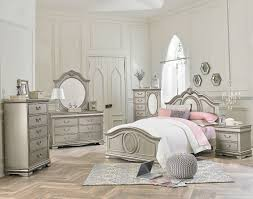 Silver Mirrored Bedroom Furniture Jessica Silver Bedroom All American Furniture Buy 4 Less