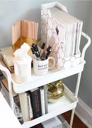 Office Space Organization Ideas Use A Cart To Organize Your Workspace Essentials Workspace From