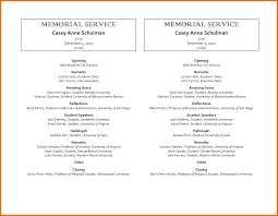 7 free memorial service program template itinerary template sample