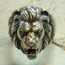 antique animal ring holder images Sterling silver lion ring animal ring lion head ring chunky jpg