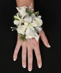 corsage for prom sparkly white prom corsage lulu s flowers