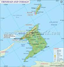 Map Of The United States With Landforms by Trinidad And Tobago Map