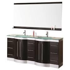 design element bathroom vanities design element jade 72 in w x 22 in d vanity in espresso with