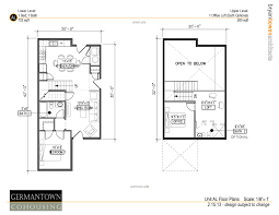 Open Floor Plan With Loft by One Bedroom Homes U2013 Germantown Commons