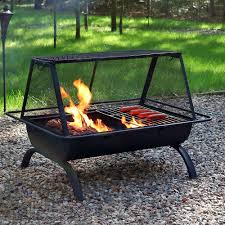 Bbq Firepit Fresh Idea Portable Pit Bbq Get Large Folding Barbecue Cooker
