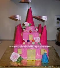 coolest homemade princess castle cake