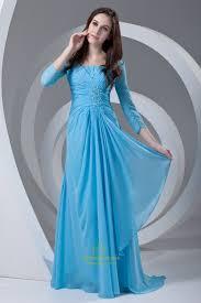 light blue long sleeve dress vintage light blue long sleeves ruffles chiffon mother of the bride
