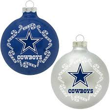 buy topperscot nfl dallas cowboys home and away glass ornament set
