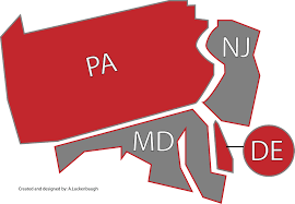 map of maryland delaware and new jersey artistic edge scissor sharpening service area page