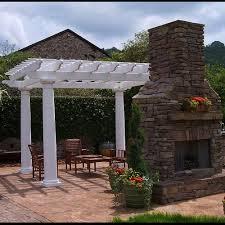 round fiberglass outdoor pergola kit column centers 10 u0027 x 10