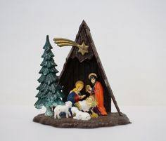 vintage nativity ornaments 1960 s made in hong classic