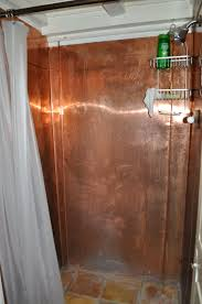copper sheeted shower wall british colonial renovation copper sheeted shower wall