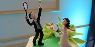 tennis cake toppers wedding cake topper tennis reluctant tennis groom with te