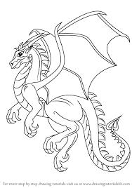 coloring draw drago draw dragon simple