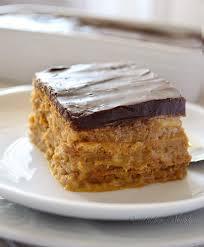 pumpkin eclair cake with chocolate ganache frosting kitchen