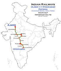 Hyderabad Map Ajmer U2013hyderabad Meenakshi Express Wikipedia