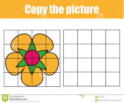 grid copy worksheet educational children game printable kids