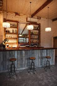 Bar Decor | rustic wood basement bar decor