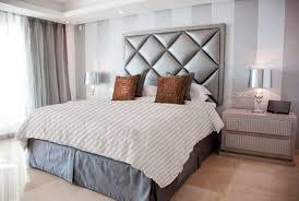 double bed headboard contemporary fabric diamond viveti