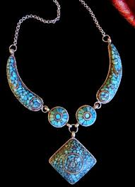 turquoise tibetan necklace images Tibetan jewelry contemporary tribal turquoise mosaic necklace JPG
