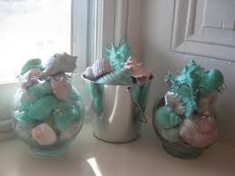 tropical seashell decoration take any decorative cup or vase and