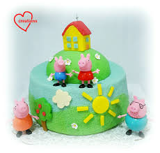 superman peppa pig and other loving creations for you peppa pig family house chiffon cake