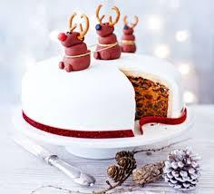 Christmas Cake Decorations Edible nancy u0027s rudolph christmas cake recipe bbc good food