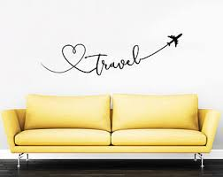 Wall Decal Quotes For Bedroom by Travel Wall Decal Etsy