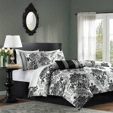 Black And White Bed Sheets Amazon Com Mp10 513 Bella 7piece Comforter Set Home U0026 Kitchen