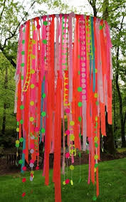 how to make a ribbon chandelier hula hoop u0026 ribbon party decor