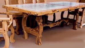 southwest dining room furniture lodge pole wood poles pine poles