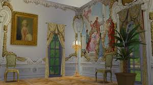 my sims 4 blog villa widmann rococo wall mural set by the regal sim regal sims