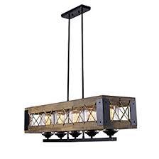 Pendant Lighting For Kitchen Island by Laluz Wood Kitchen Island Lighting 5 Light Pendant Lighting Linear