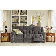 Dual Reclining Sofa Slipcover by Park City Dual Reclining Sofa Gray American Signature Furniture
