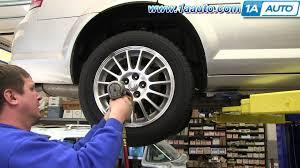 how to install replace rear shocks struts 2001 06 chrysler sebring